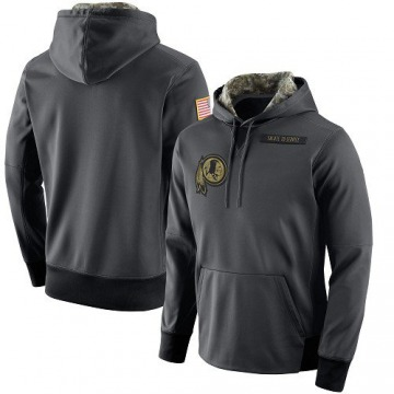 Men's Nike Washington Redskins Anthracite Salute to Service Player Performance Hoodie -