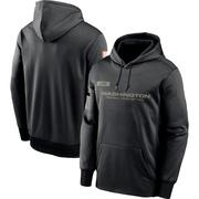 Men's Nike Washington Redskins Black 2020 Salute to Service Sideline Performance Pullover Hoodie -