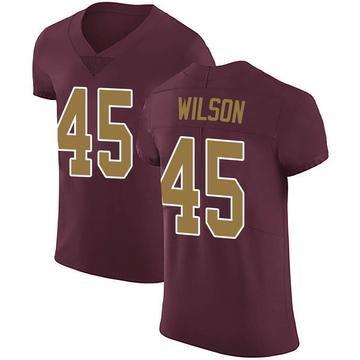 Men's Washington Redskins Caleb Wilson Burgundy Alternate Vapor Untouchable Jersey - Elite