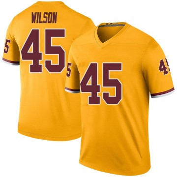 Men's Washington Redskins Caleb Wilson Gold Color Rush Jersey - Legend
