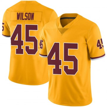 Men's Washington Redskins Caleb Wilson Gold Color Rush Jersey - Limited