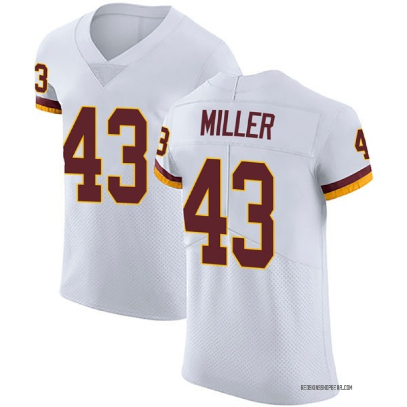 finest selection a6774 8189b Men's Nike Washington Redskins Harlan Miller White Vapor Untouchable Jersey  - Elite