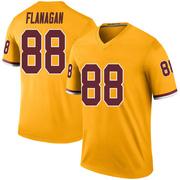 Men's Nike Washington Redskins Matt Flanagan Gold Color Rush Jersey - Legend