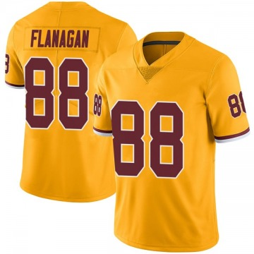 Men's Washington Redskins Matt Flanagan Gold Color Rush Jersey - Limited