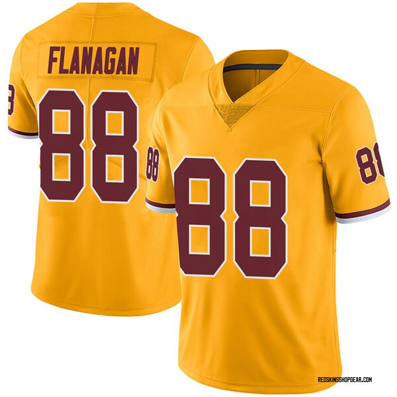 Men's Nike Washington Redskins Matt Flanagan Gold Color Rush Jersey - Limited