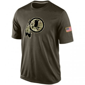 Men's Washington Redskins Olive Salute To Service KO Performance Dri-FIT T-Shirt -