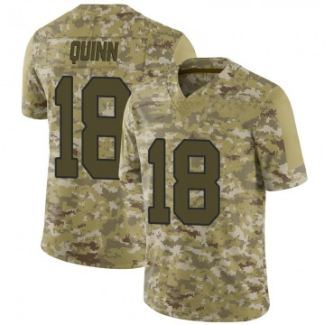 Men's Washington Redskins Trey Quinn Camo 2018 Salute to Service Jersey - Limited