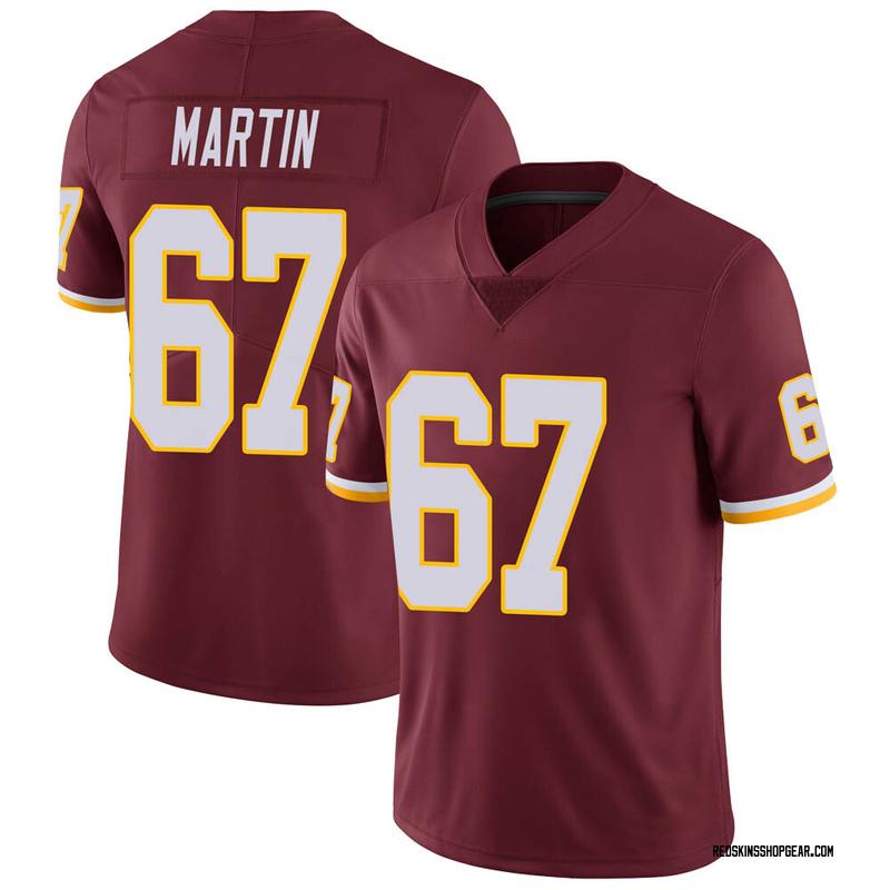 Men's Nike Washington Redskins Wes Martin Burgundy 100th Vapor Jersey - Limited