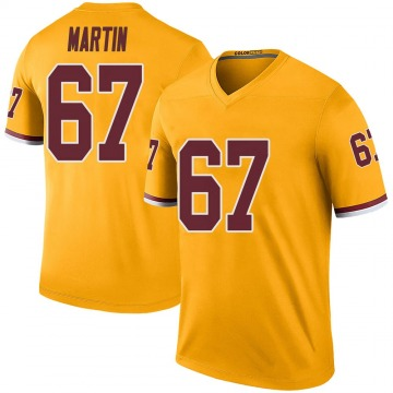 Men's Washington Redskins Wes Martin Gold Color Rush Jersey - Legend