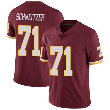 Men's Washington Redskins Wes Schweitzer Burgundy 100th Vapor Jersey - Limited