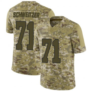 Men's Washington Redskins Wes Schweitzer Camo 2018 Salute to Service Jersey - Limited