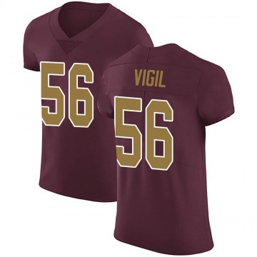 Men's Washington Redskins Zach Vigil Burgundy Alternate Vapor Untouchable Jersey - Elite