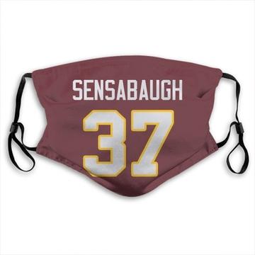 Washington Redskins Coty Sensabaugh Red Jersey Name & Number Face Mask