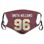 Washington Redskins James Smith-Williams Red Jersey Name & Number Face Mask
