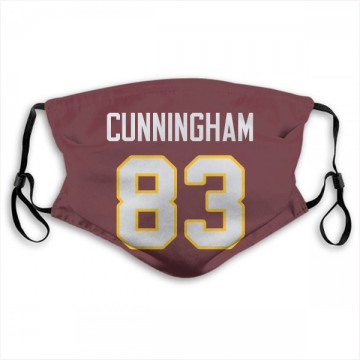 Washington Redskins Jerome Cunningham Red Jersey Name & Number Face Mask