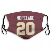 Washington Redskins Jimmy Moreland Red Jersey Name & Number Face Mask