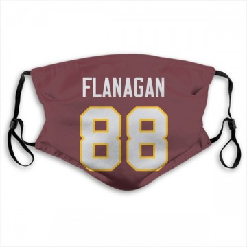 Washington Redskins Matt Flanagan Red Jersey Name & Number Face Mask
