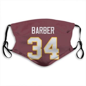 Washington Redskins Peyton Barber Red Jersey Name & Number Face Mask