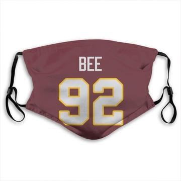 Washington Redskins Ryan Bee Red Jersey Name & Number Face Mask