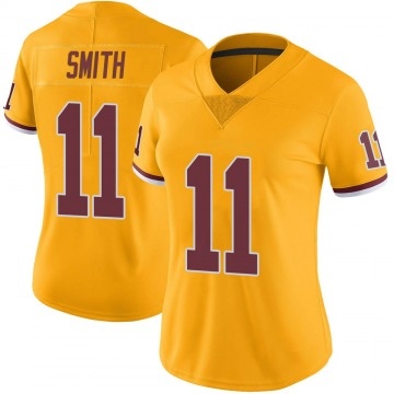 Women's Nike Washington Redskins Alex Smith Gold Color Rush Jersey - Limited