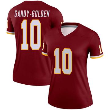 Women's Nike Washington Redskins Antonio Gandy-Golden Gold Burgundy Jersey - Legend