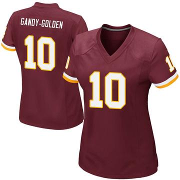 Women's Nike Washington Redskins Antonio Gandy-Golden Gold Burgundy Team Color Jersey - Game