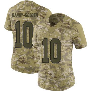 Women's Nike Washington Redskins Antonio Gandy-Golden Gold Camo 2018 Salute to Service Jersey - Limited