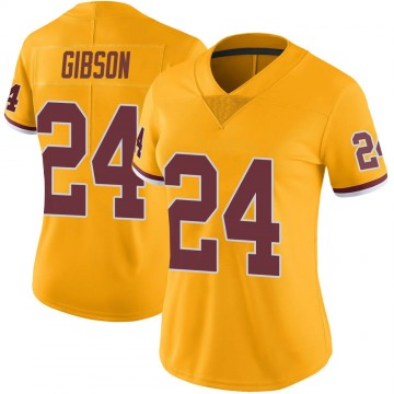 Women's Nike Washington Redskins Antonio Gibson Gold Color Rush Jersey - Limited