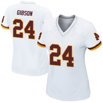 Women's Nike Washington Redskins Antonio Gibson White Jersey - Game
