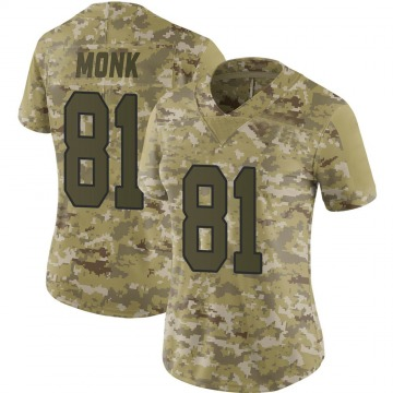 Women's Nike Washington Redskins Art Monk Camo 2018 Salute to Service Jersey - Limited
