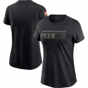 Women's Nike Washington Redskins Black 2020 Salute To Service Performance T-Shirt -