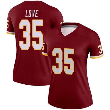 Women's Nike Washington Redskins Bryce Love Burgundy Jersey - Legend