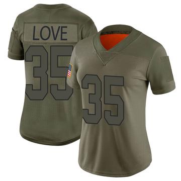 Women's Nike Washington Redskins Bryce Love Camo 2019 Salute to Service Jersey - Limited
