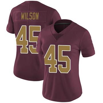 Women's Nike Washington Redskins Caleb Wilson Burgundy Alternate Vapor Untouchable Jersey - Limited