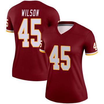 Women's Nike Washington Redskins Caleb Wilson Burgundy Jersey - Legend