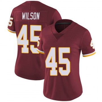 Women's Nike Washington Redskins Caleb Wilson Burgundy Team Color Vapor Untouchable Jersey - Limited