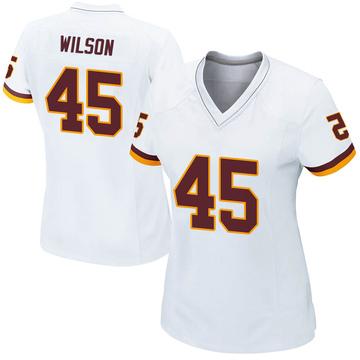 Women's Nike Washington Redskins Caleb Wilson White Jersey - Game