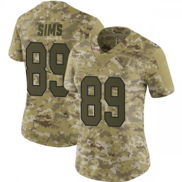 Women's Nike Washington Redskins Cam Sims Camo 2018 Salute to Service Jersey - Limited