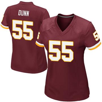 Women's Nike Washington Redskins Casey Dunn Burgundy Team Color Jersey - Game