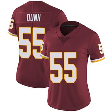 Women's Nike Washington Redskins Casey Dunn Burgundy Team Color Vapor Untouchable Jersey - Limited