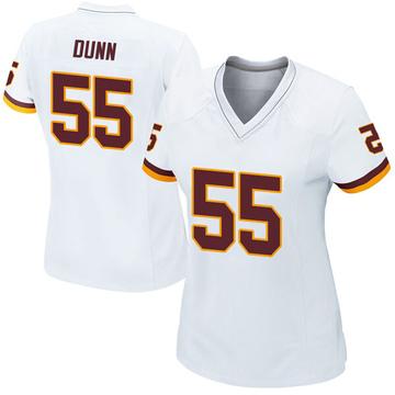 Women's Nike Washington Redskins Casey Dunn White Jersey - Game