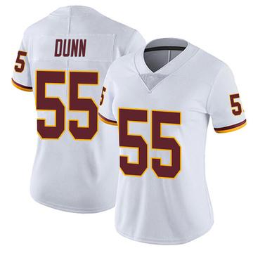 Women's Nike Washington Redskins Casey Dunn White Vapor Untouchable Jersey - Limited