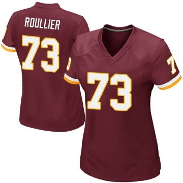 Women's Nike Washington Redskins Chase Roullier Burgundy Team Color Jersey - Game