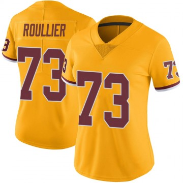 Women's Nike Washington Redskins Chase Roullier Gold Color Rush Jersey - Limited