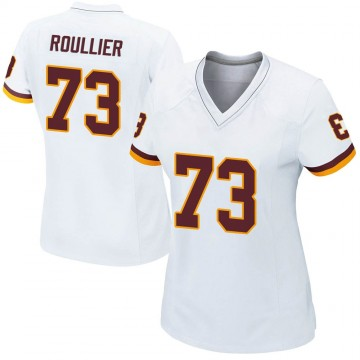 Women's Nike Washington Redskins Chase Roullier White Jersey - Game