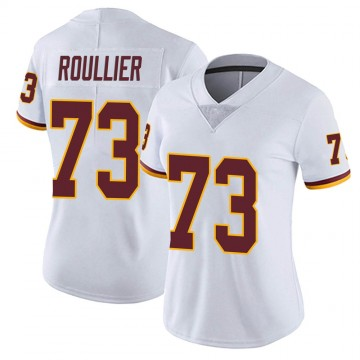 Women's Nike Washington Redskins Chase Roullier White Vapor Untouchable Jersey - Limited