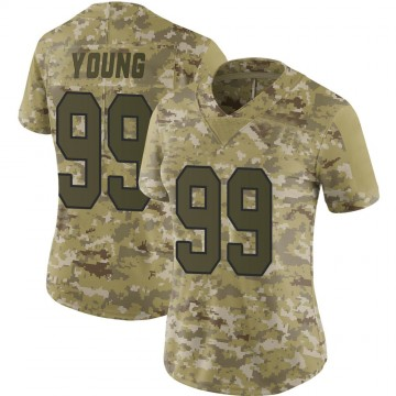 Women's Nike Washington Redskins Chase Young Camo 2018 Salute to Service Jersey - Limited