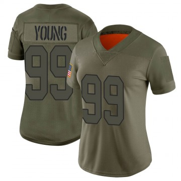 Women's Nike Washington Redskins Chase Young Camo 2019 Salute to Service Jersey - Limited