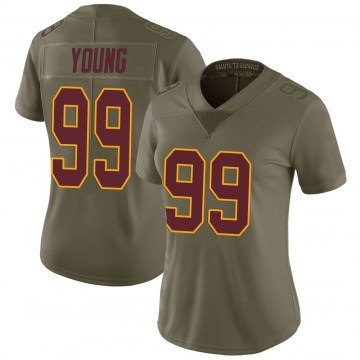 Women's Nike Washington Redskins Chase Young Green 2017 Salute to Service Jersey - Limited