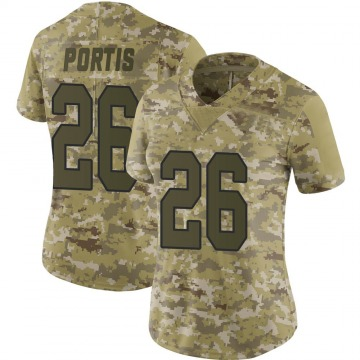 Women's Nike Washington Redskins Clinton Portis Camo 2018 Salute to Service Jersey - Limited